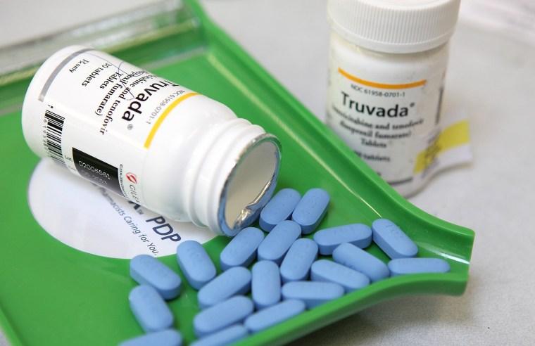 Bottles of antiretroviral drug Truvada.