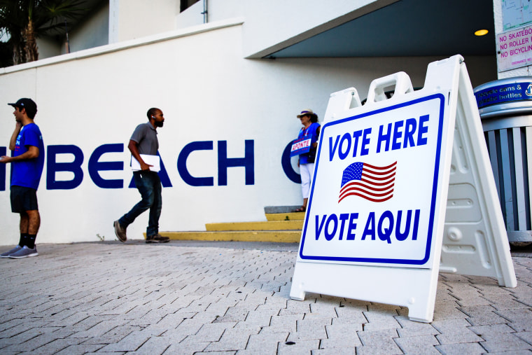 Voters Cast Ballots In The Florida Primary Election