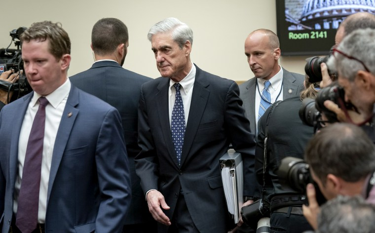 Image: Robert Mueller arrives to testify before the House Judiciary Committee on Capitol Hill on July 24, 2019.