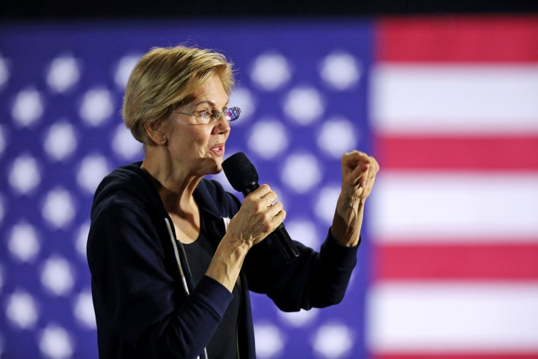 Image: U.S. Democratic presidential candidate Sen. Elizabeth Warren holds a town hall event in West Des Moines