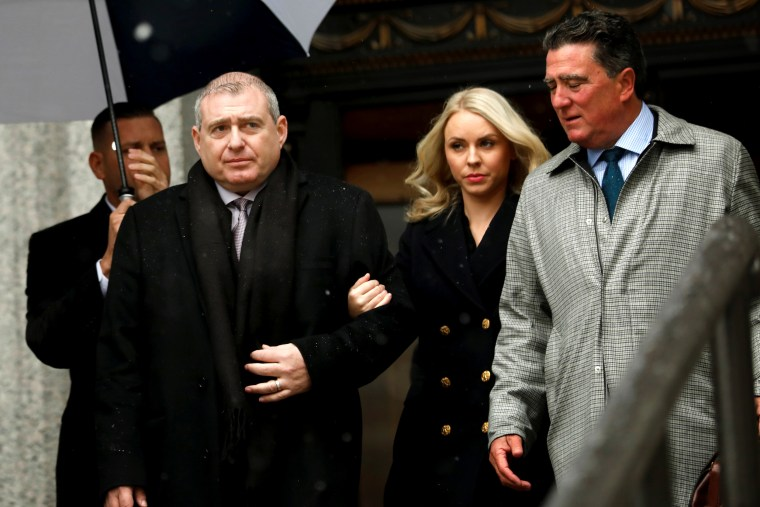 Image: Ukrainian-American businessman Lev Parnas and his wife, Svetlana, leave federal court in Manhattan on Dec. 2, 2019.