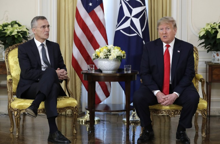 Image: President Donald Trump meets NATO Secretary General, Jens Stoltenberg at Winfield House in London
