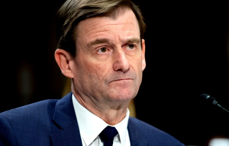 Image: Undersecretary of State for political affairs David Hale testifies during a Senate Foreign Relations Committee hearing on Dec. 3, 2019.