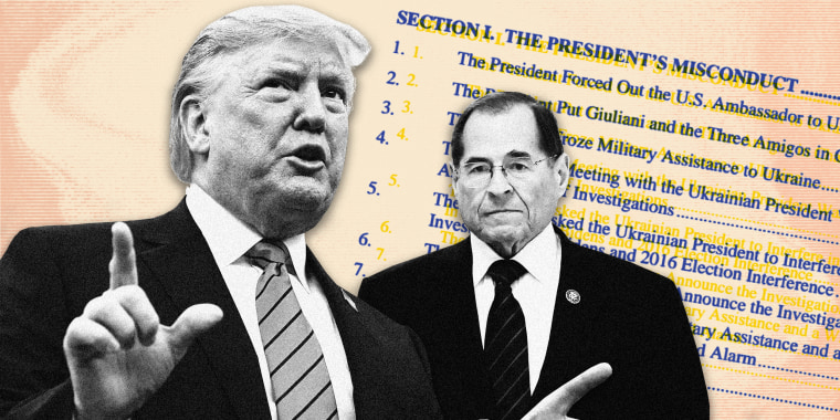 """Image: On Wednesday, the House Judiciary Committee is expected to hold its first impeachment hearing, which its chairman, Rep. Jerrold Nadler, said will """"explore the framework put in place to respond to serious allegations of impeachable misconduct like t"""