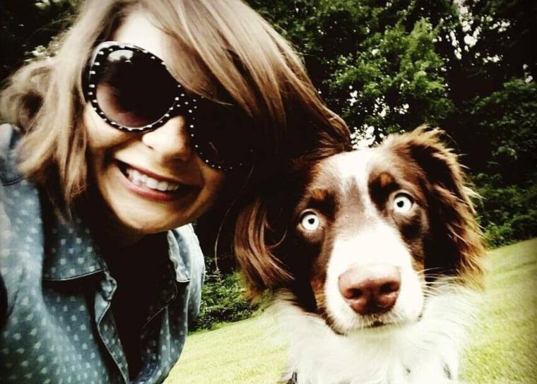 Olivia Wojcicehowski and her dog, Gunther.