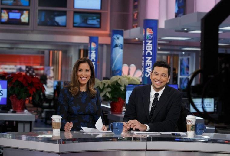 MSNBC anchors Yasmin Vossoughian and Ayman Mohyeldin.