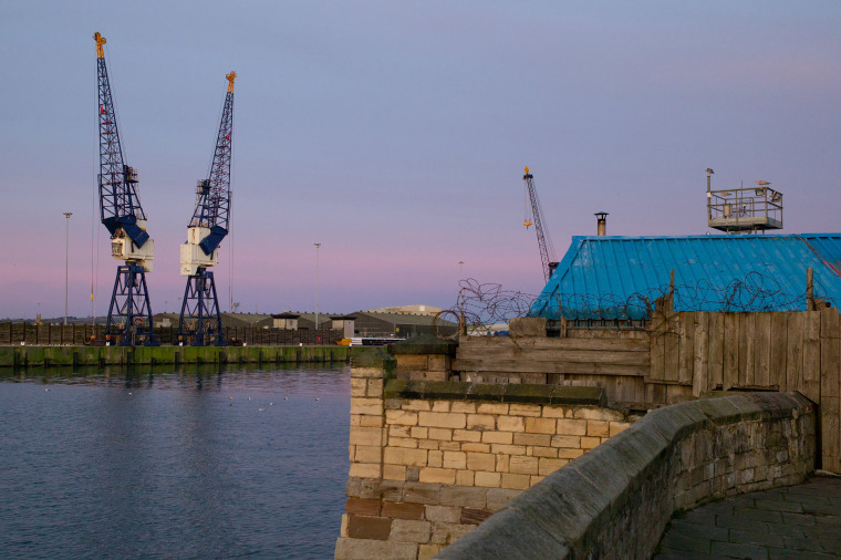 Image: Cranes in Hartlepool docks.
