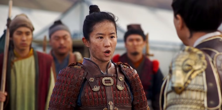 "A still from the new Disney trailer for ""Mulan."""