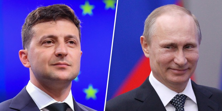 Image: Volodymyr Zelensky, Vladimir Putin