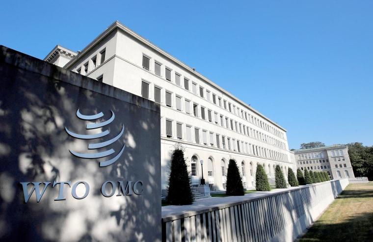 Image: FILE PHOTO: The World Trade Organization (WTO) headquarters are pictured in Geneva