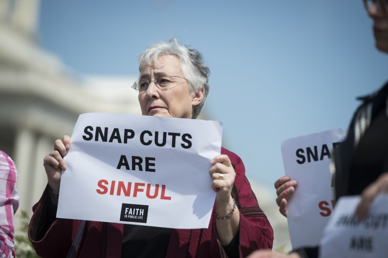 Image: SNAP cut protest