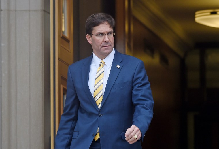 Esper declines to say if he knew of political considerations regarding Trump's hold on Ukraine aid