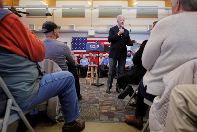 Image: Democratic 2020 U.S. presidential candidate Biden speaks during a stop in Algona