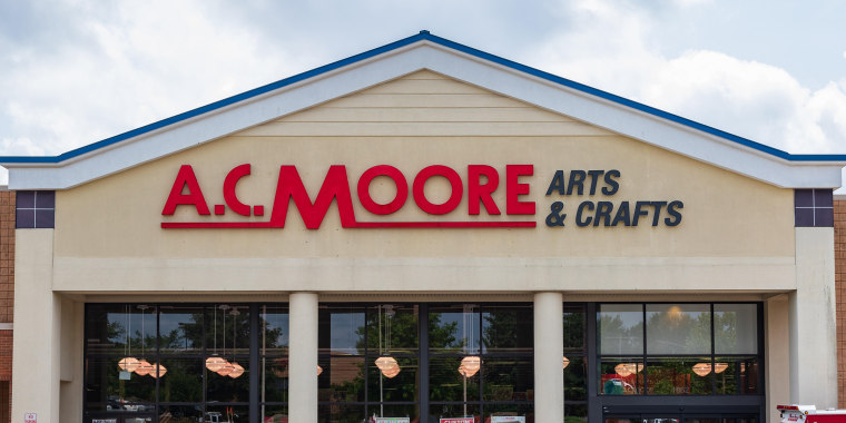 HICKORY, NC, USA-20 AUG 2018: An A.C. Moore store, a retailer selling arts and crafts supplies.
