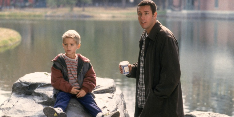 BIG DADDY, from left: Cole/Dylan Sprouse, Adam Sandler, 1999, (C)Columbia Pictures/courtesy Everett Co