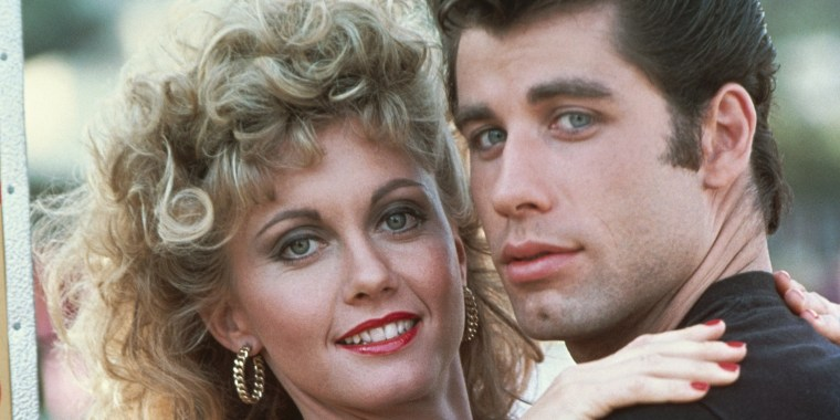 Olivia Newton-John and John Travolta reunite in their 'Grease' costumes