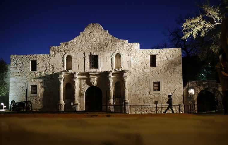 Image: The Alamo in San Antonio, Texas, in 2013.