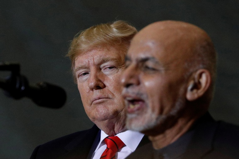 Image: Afghan President Ashraf Ghani and President Donald Trump