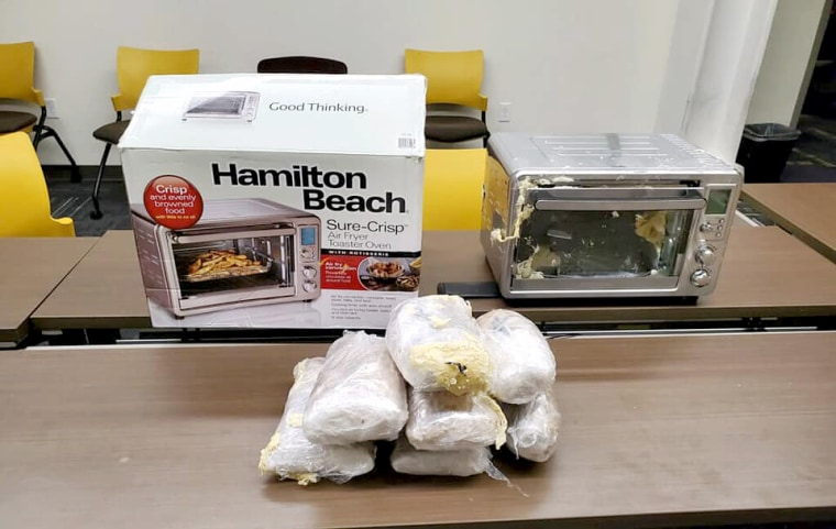 Louisville Metro Police tracked a parcel containing over $100,000 dollars of drugs in an air fryer on Dec. 7, 2019.