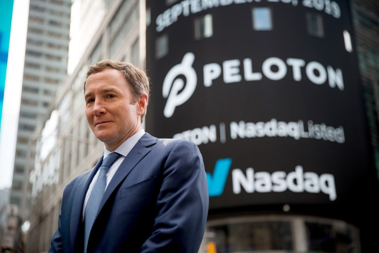 'That was last week,' Peloton CEO says, dodging questions about exercise-bike ad
