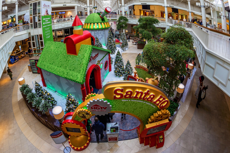 E-commerce is expected to increase by 14 percent this holiday season, but Santa is still a big attraction that can drive traffic to malls.