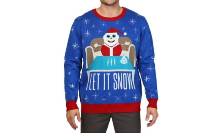 An ugly Christmas sweater being sold by Walmart online.