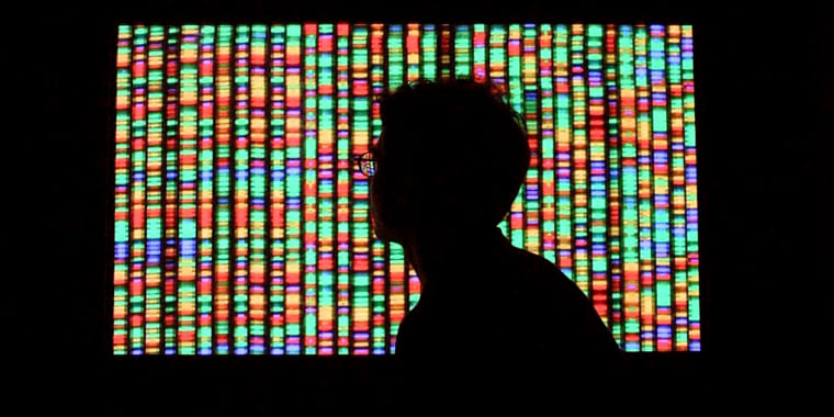 Image: A digital representation of the human genome at the American Museum of Natural History in New York.