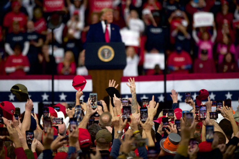 Image: President Trump Holds Campaign Rally In Hershey, Pennsylvania