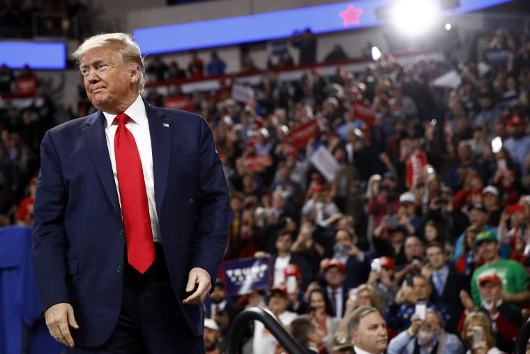 Image: President Donald Trump arrives to speak at a campaign rally, Tuesday, Dec. 10, 2019, in Hershey, Pa.