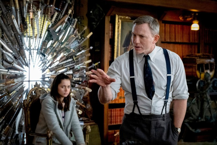 "Image: Ana de Armas and Daniel Craig in ""Knives Out."""
