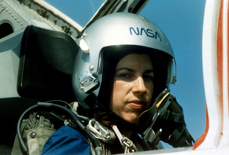 Image: NASA Astronaut Ellen Ochoa during training at Vance Air Force Base in Houston in 1993.