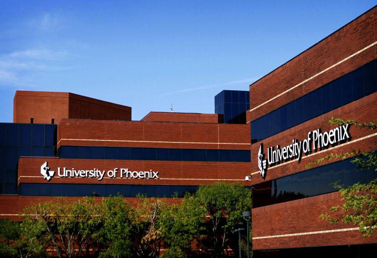 Image: The University of Phoenix building in Arizona in 2010.