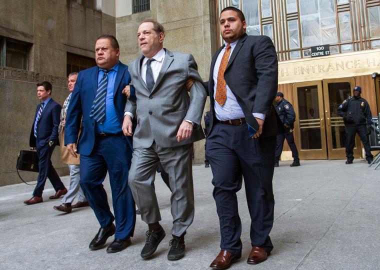 Image: TOPSHOT-US-COURT-WEINSTEIN-FILM-CRIME-assault