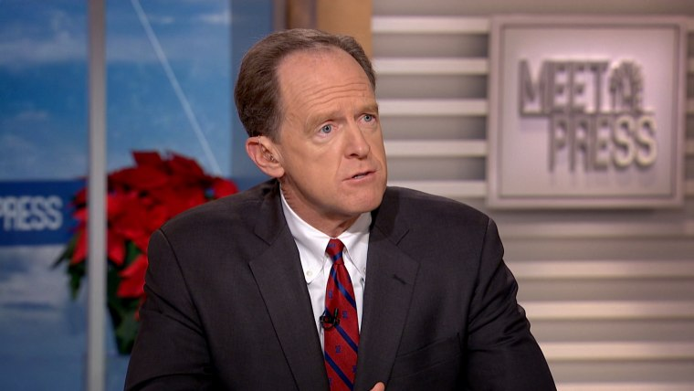 "Image: Sen. Pat Toomey appears on ""Meet the Press."""