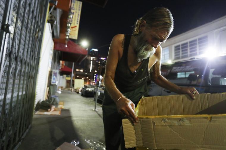 Image: Los Angeles Seeks To Increase Restrictions On Homeless Sleeping On Sidewalks