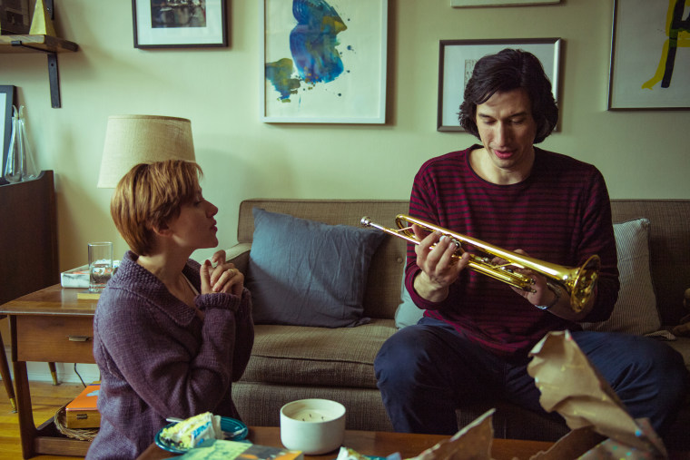 """Adam Driver and co-star Scarlett Johansson in \""""Marriage Story\"""" on Netflix."""