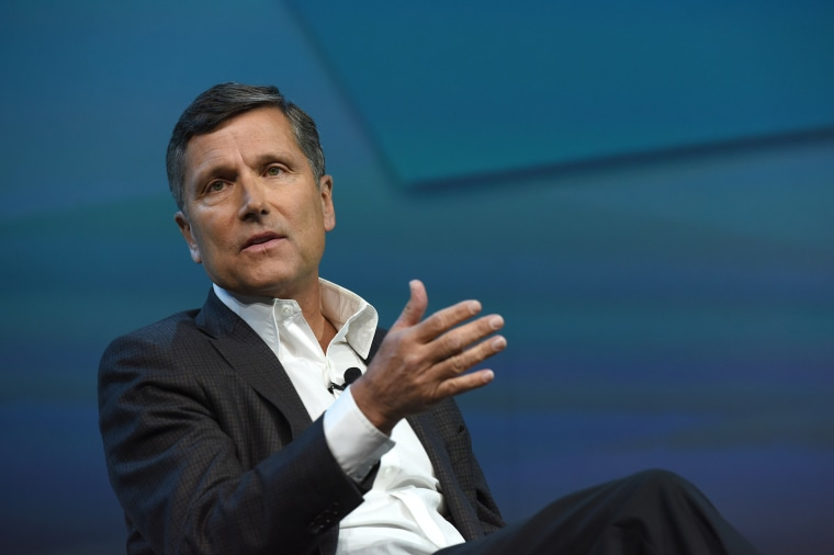 Steve Burke, president and chief executive officer of NBCUniversal Media LLC, speaks at the 2016 Consumer Electronics Show in Las Vegas.