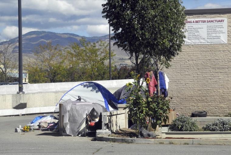 A homeless camp in Boise, Idaho, in 2013.