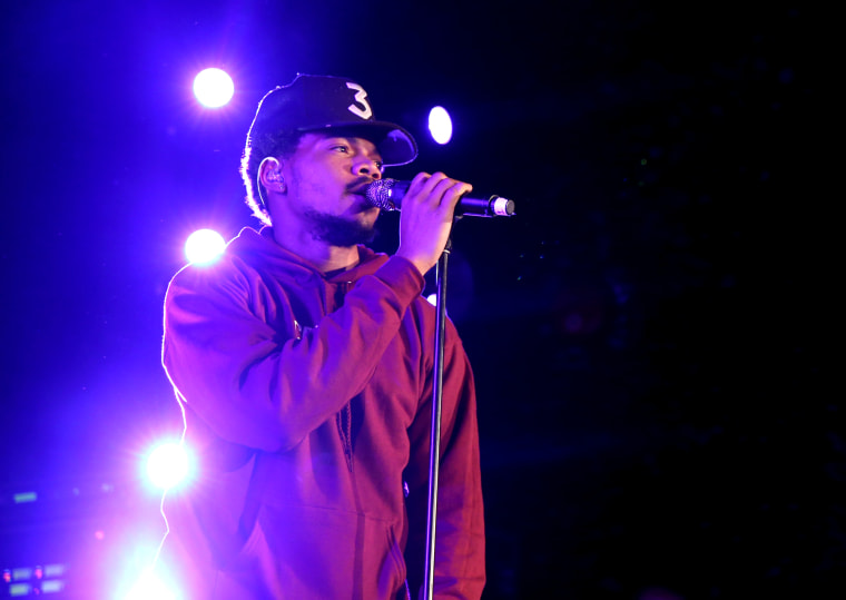 Image: Chance the Rapper performs in Los Angeles in 2016.