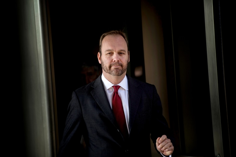 Image: Former Trump campaign official Rick Gates leaves federal court in Washington on Dec. 11, 2017.