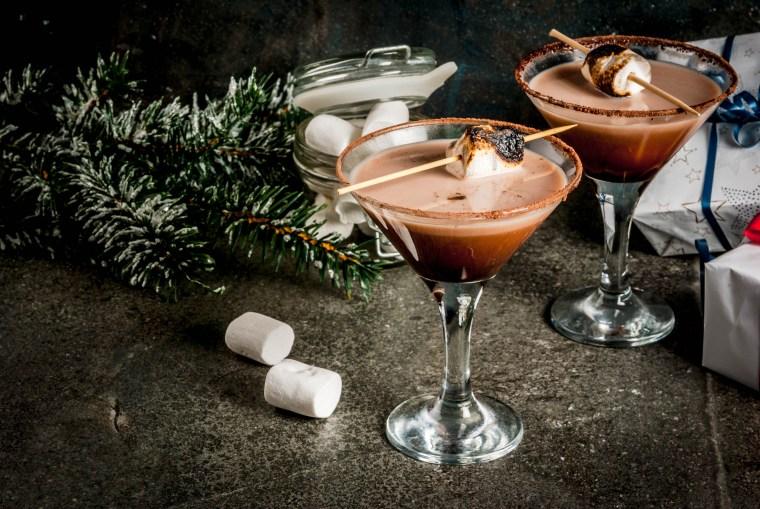 Toasted smores martini