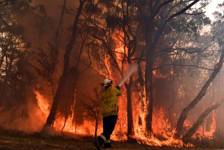 Image: Australia brush fire