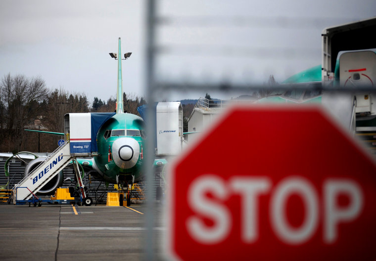 Image: A Boeing 737 Max aircraft on the tarmac at Boeing's production facility in Renton, Wash., on Dec. 16, 2019.