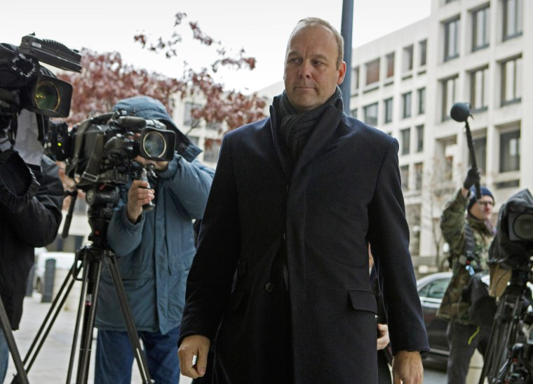 Former Deputy Trump campaign aide Rick Gates arrives at federal court in Washington on Dec. 17, 2019.