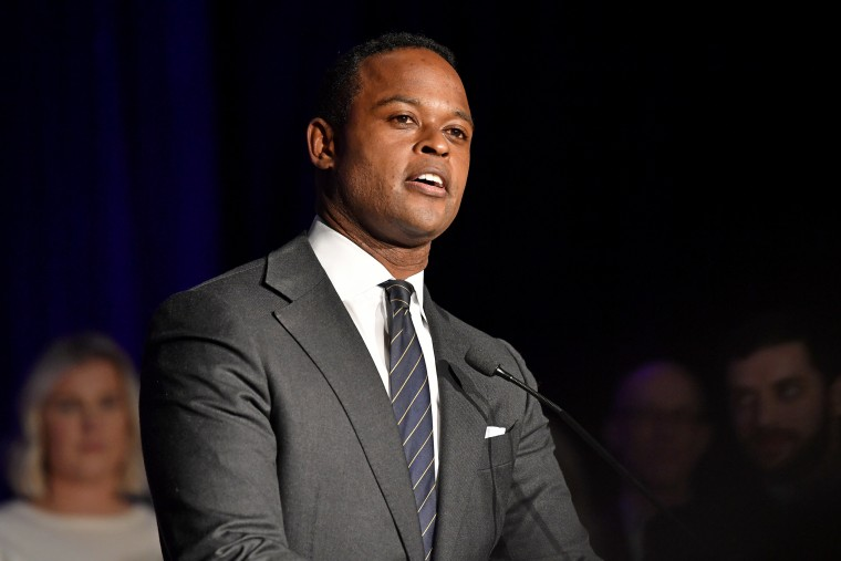 Image: Kentucky Attorney General-elect Daniel Cameron delivers a victory speech in Louisville on Nov. 5, 2019.