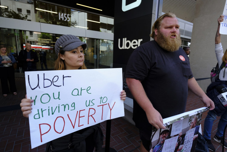 Image: Uber protest