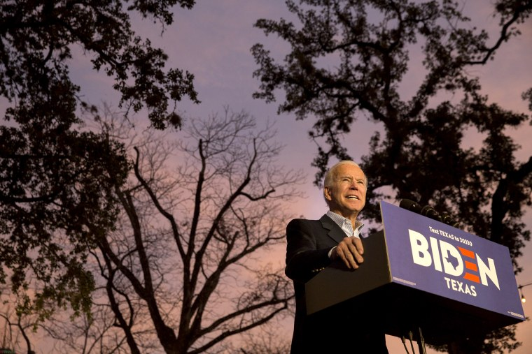Image: *** BESTPIX *** Presidential Candidate Joe Biden Campaigns In San Antonio, Texas
