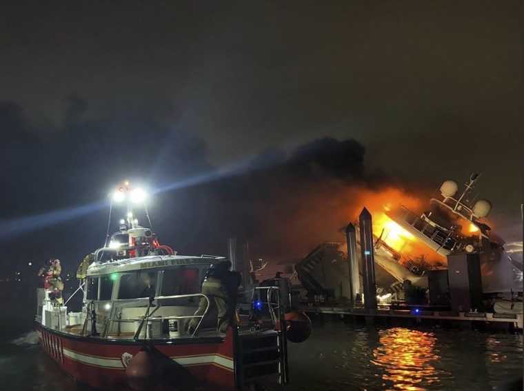 Image: Marc Anthony Yacht fire