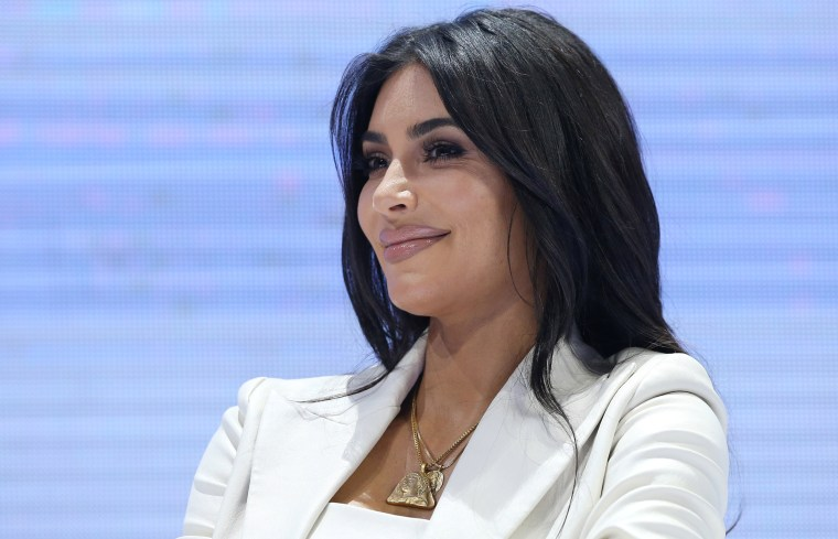 Image: Reality TV personality Kim Kardashian attends a public discussion during the World Congress on Information Technology (WCIT 2019) in Yerevan