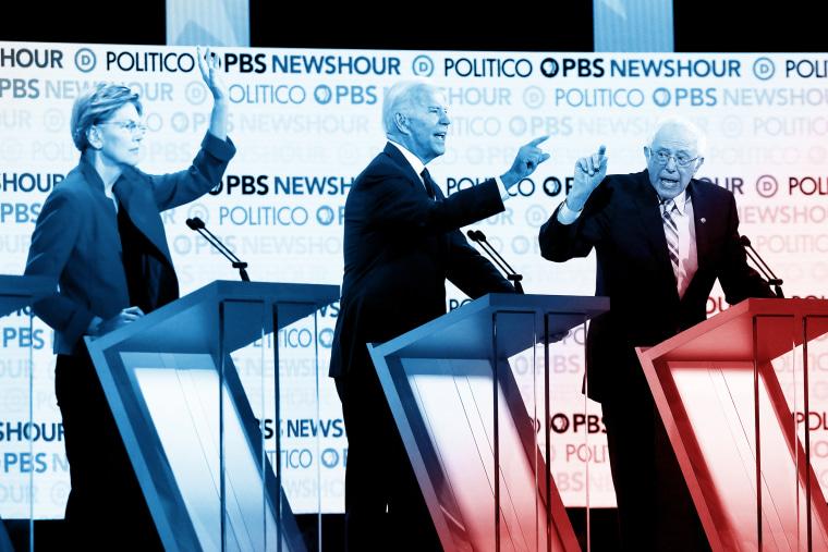 Image: Democratic Presidential Candidates Participate In Last Debate Of 2019